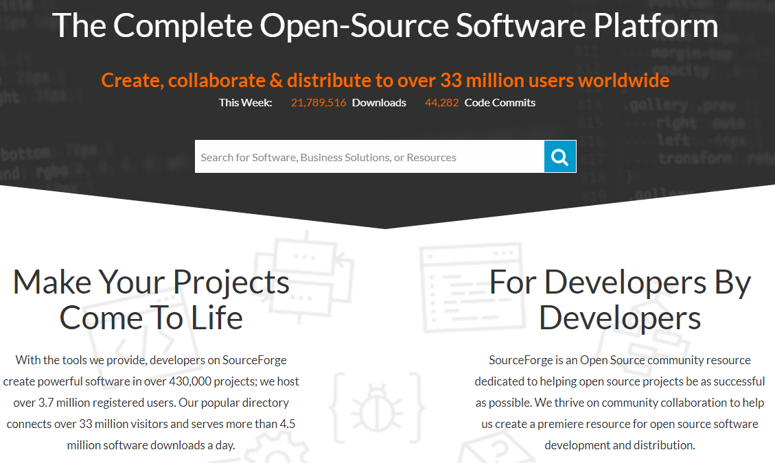 Sourceforge Features